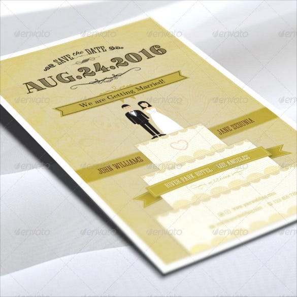 Awosome Funny Wedding Invitation PSD Format