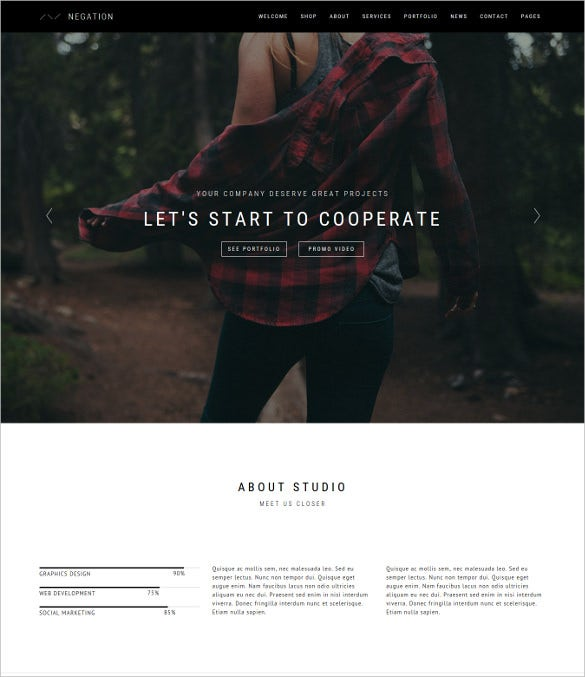 negation html5 multi purpose theme