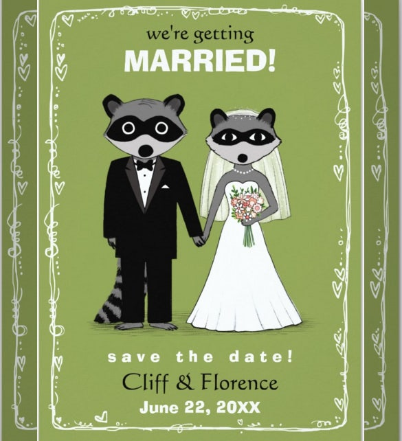 17 funny wedding invitation templates free sample example format raccoons funny wedding invitation template filmwisefo