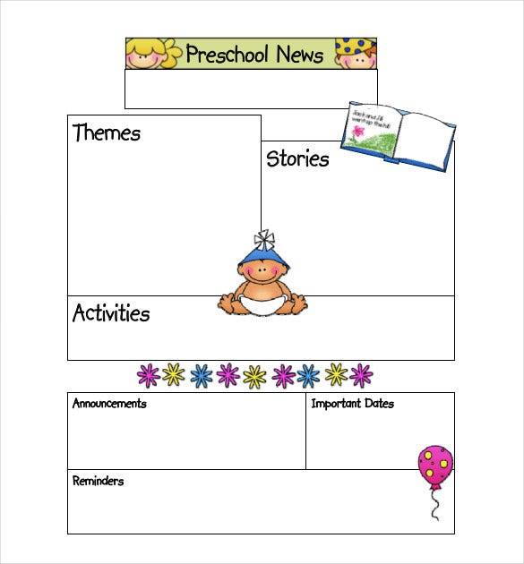 Preschool Newsletter Template  Psd Pdf Documents Download  Free