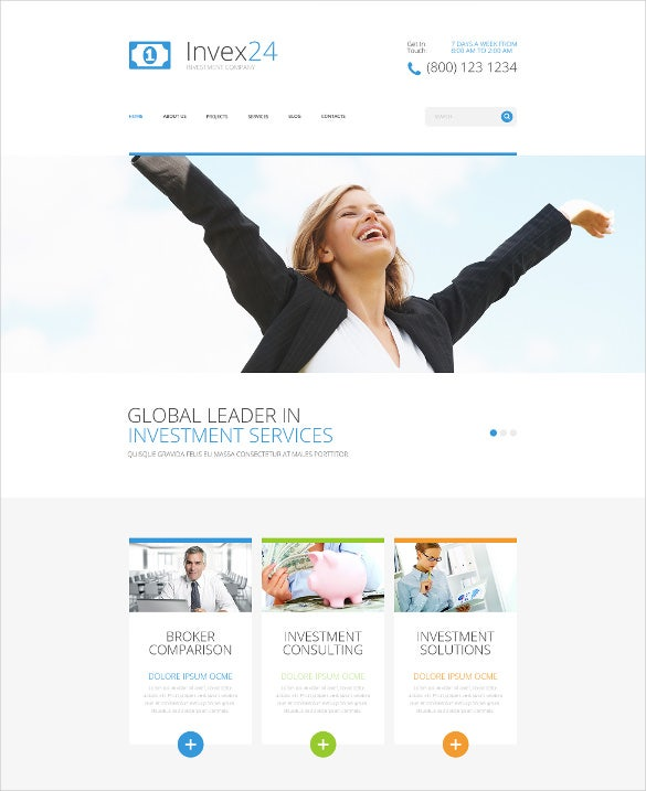 social corporate joomla template