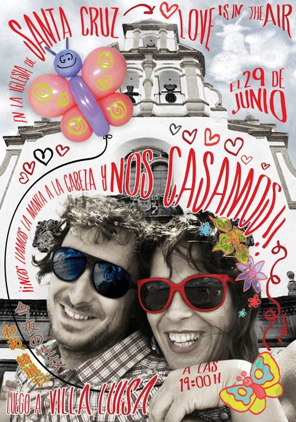 funny wedding invitation for elena and alex