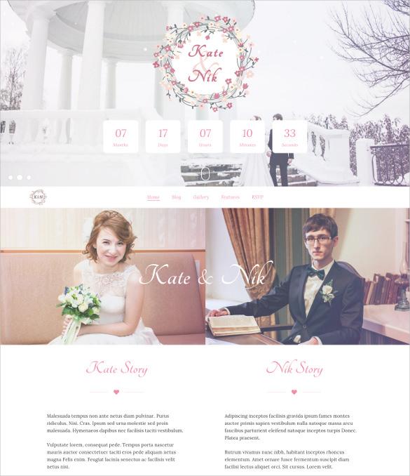 inlove responsive html wedding html5 theme