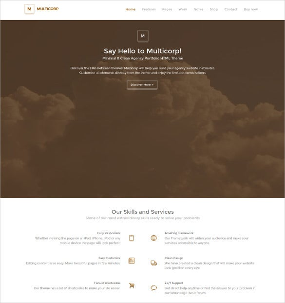 multicorp clean agency html5 theme