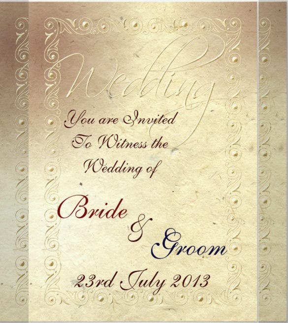 23 Handmade Wedding Invitation Templates Free Sample Example