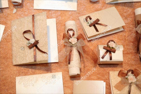 handmade wedding invitations made of paper template