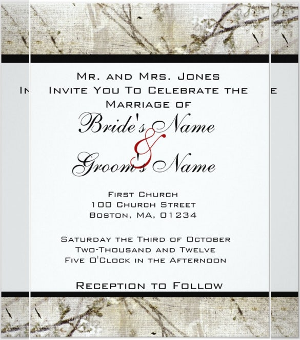 simple handmade wedding invitations template