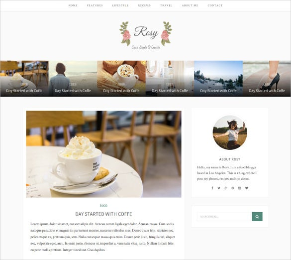 rosy beautiful html5 blog template