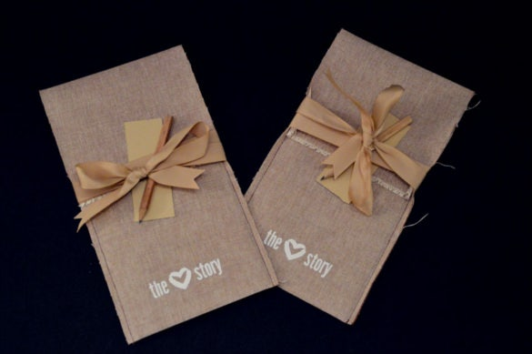 the love story wedding invitation by handmade