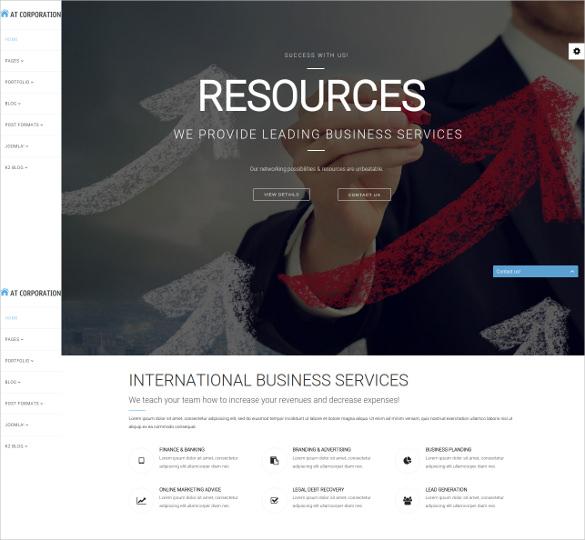 corporate business services joomla template