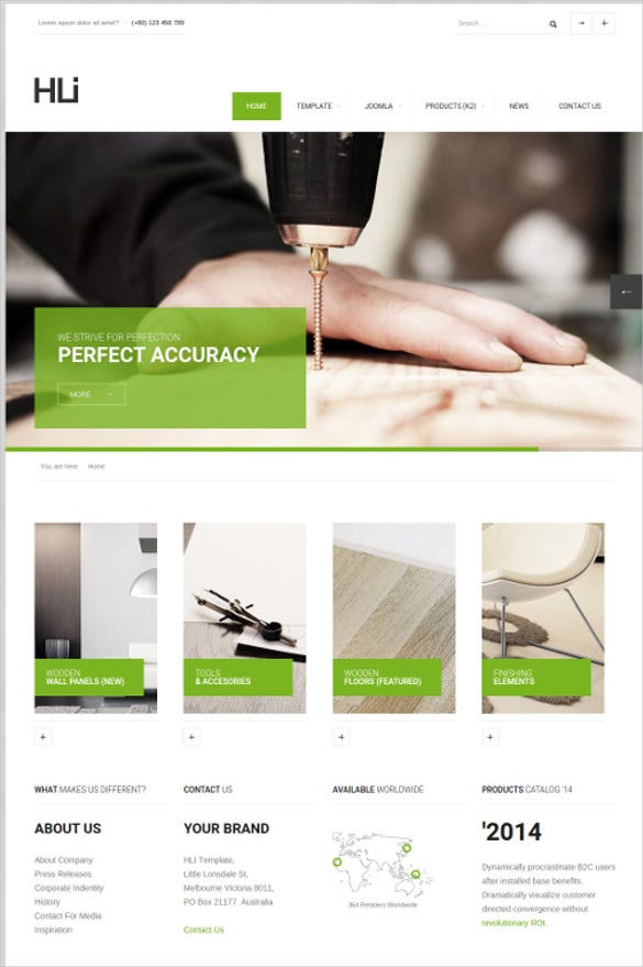 responsive corporate service joomla template