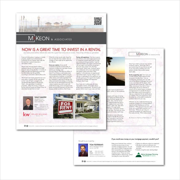 9+ Real Estate Newsletter Template - PSD, PDF Documents Download ...