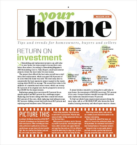 your home newsletter template