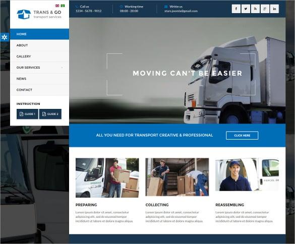 transgo transport logistics joomla template