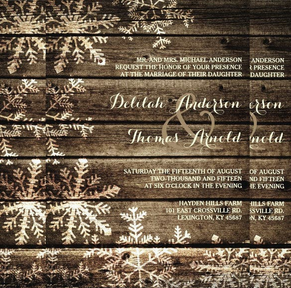 20  winter wedding invitation