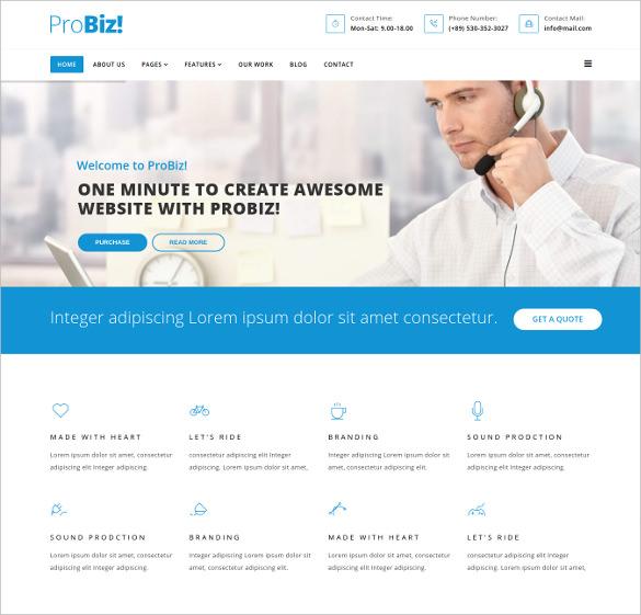 probiz multipurpose business template