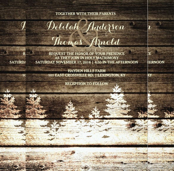 rustic barn wood wedding invitation