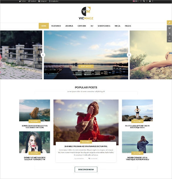 vicmagz multipurpose news magazine joomla template