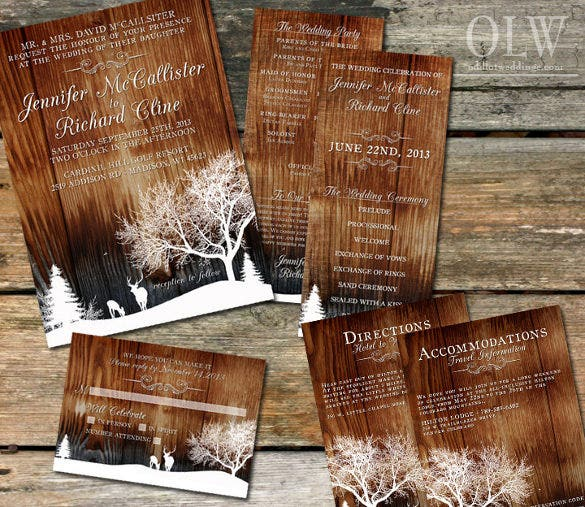 rustic winter wedding invitation1