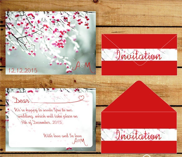beautiful winter wedding invitation1