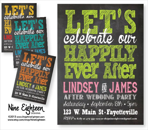 wedding party invitation custom printable pdf