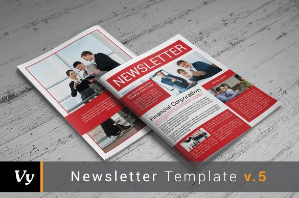 Monthly Newsletter Template   Psd Pdf Documents Download
