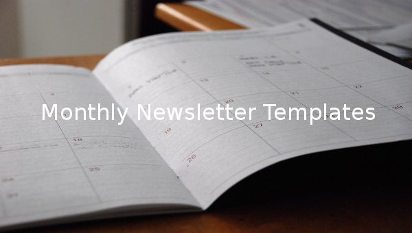 monthlynewslettertemplates