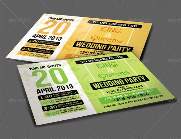 wedding party invitation card 5
