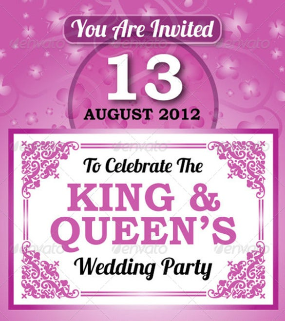 wedding party invitation card sets
