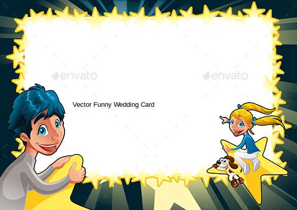 vector funny wedding card
