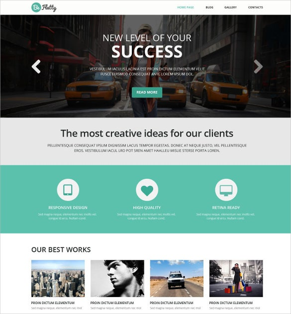creative project wordpress php theme