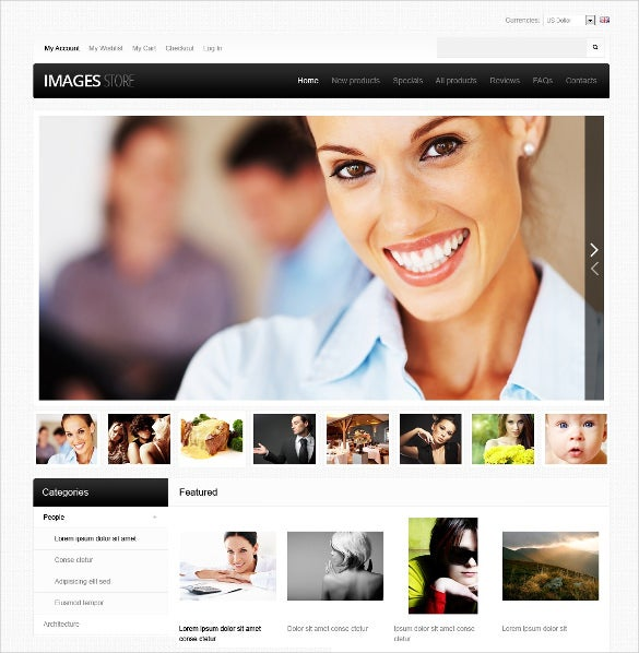 creative imagery zencart php template