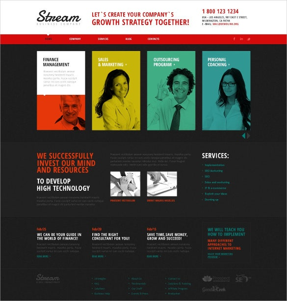 creative consulting joomla php template