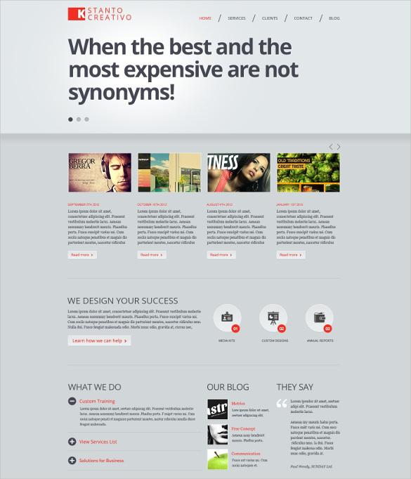 creative studio joomla php template