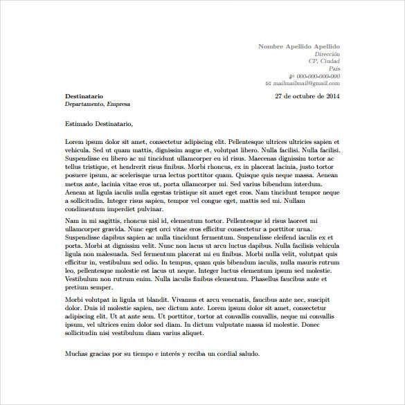 6 latex cover letter templates free sample example for Lay out of a cover letter