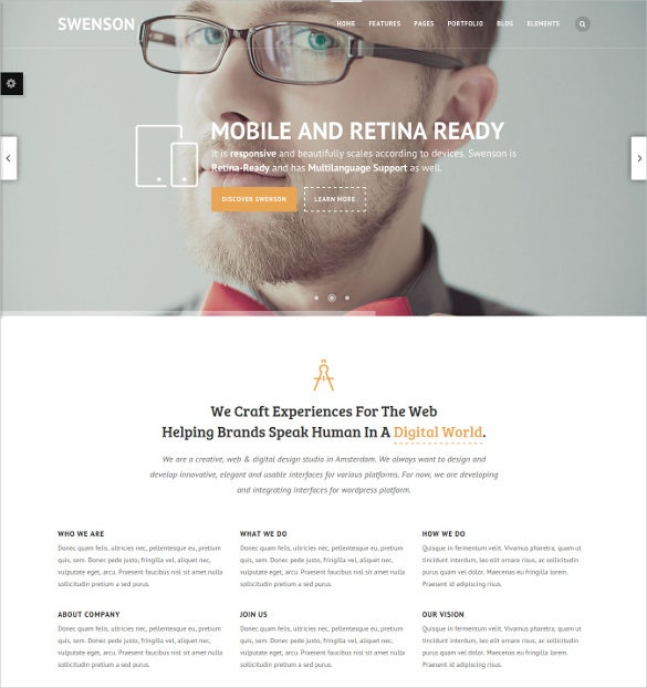 creative business blog wordpress php theme