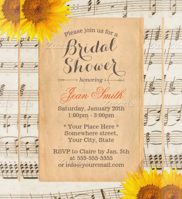 sunflower wedding invitation with vintage sunflower