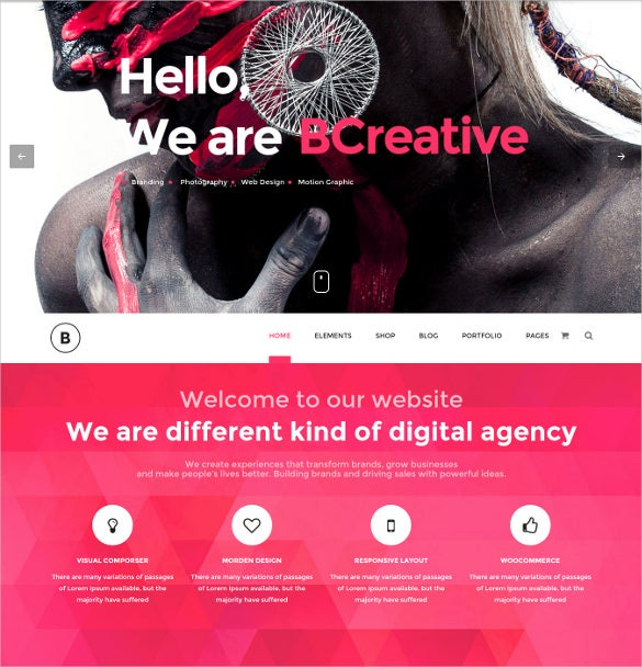 fashion wordpress creative php theme