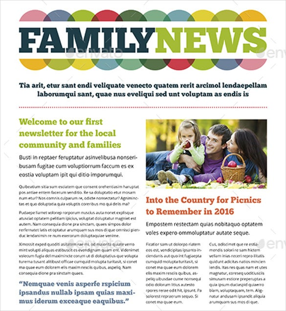 family newsletter template 10 free psd pdf documents