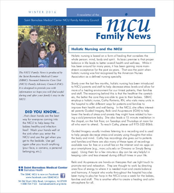 free family newsletter templates download