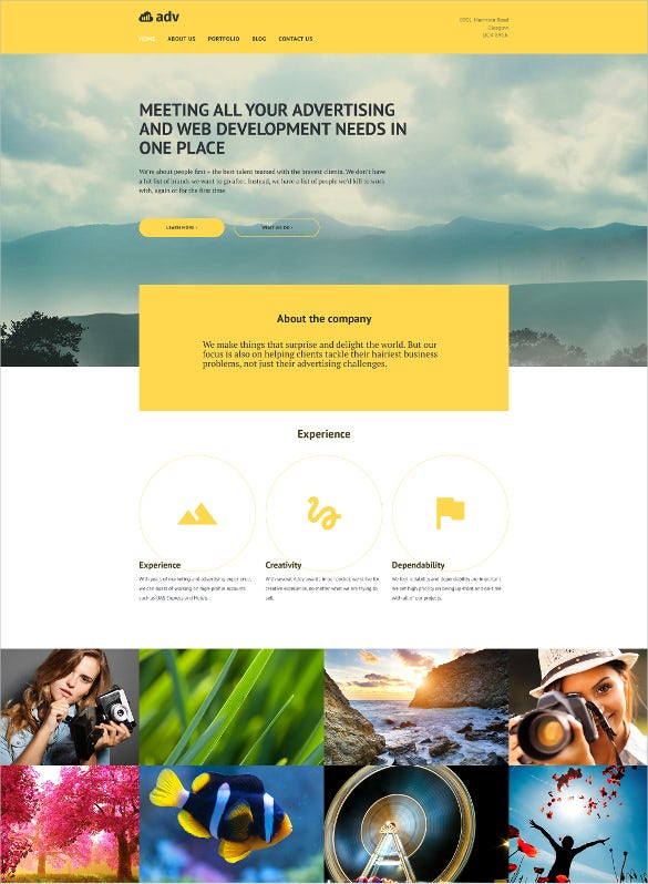 corporate adbvertising html 5 theme