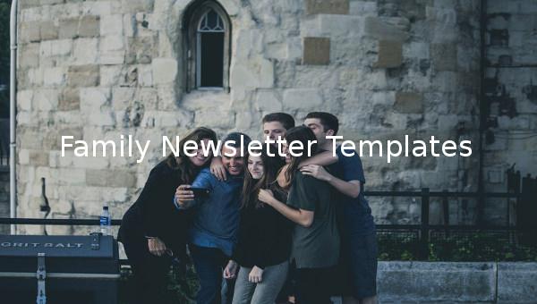 family newsletter templates