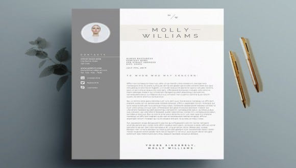latex cover letter template