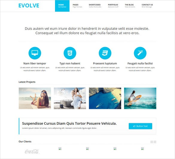 responsive creative html php template
