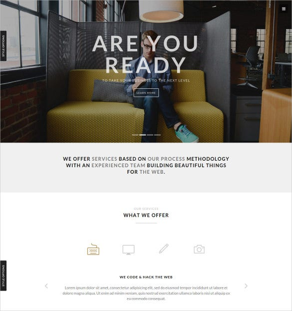 business portfolio html php template