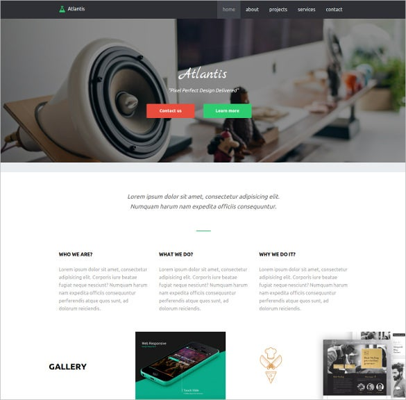creative agency html5 php template