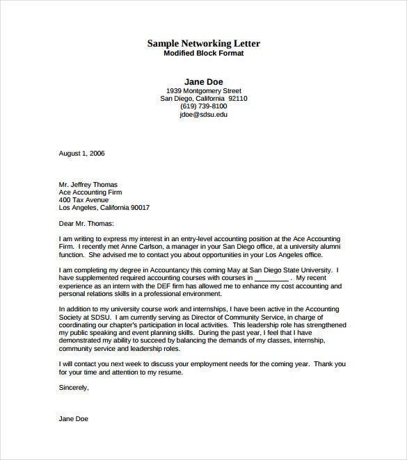 Entry Level Cover Letter Template - 11+ Free Sample, Example, Format ...
