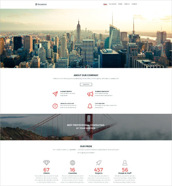 business corporate html 5 template