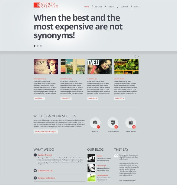 21+ Creative Website Themes & Templates | Free & Premium Templates