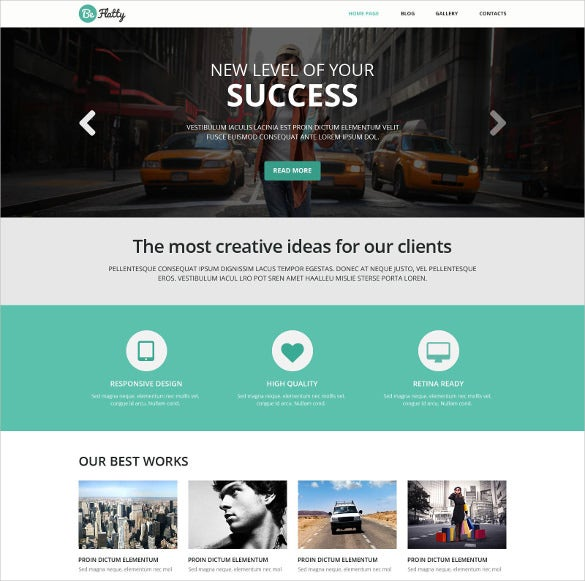 creative project wordpress website theme